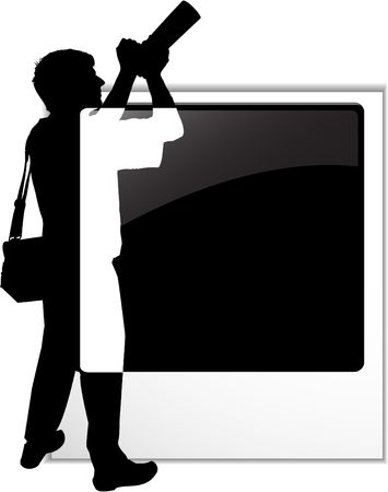 the Photographers silhouette  Vector