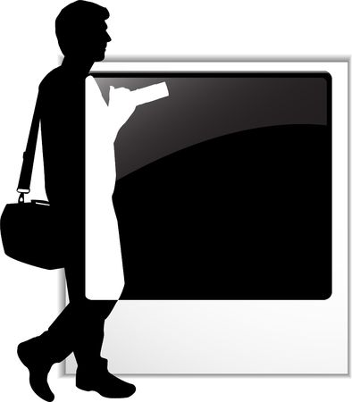 the Photographer's silhouette Stock Vector - 6745351