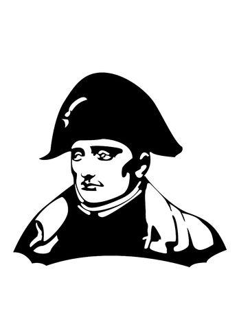the Napoleon Bonaparte head  Illustration