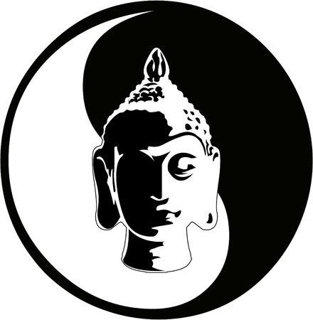 the  buddha head  Vector
