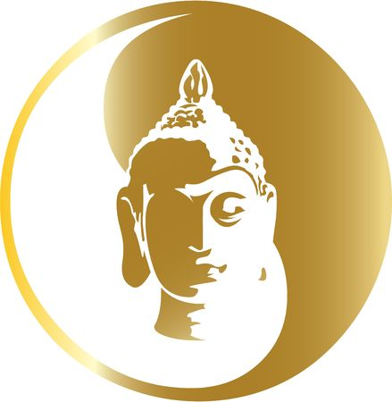 the gold buddha Vector