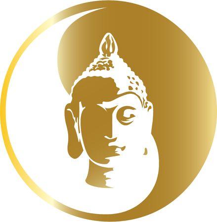 buddha face: the gold buddha