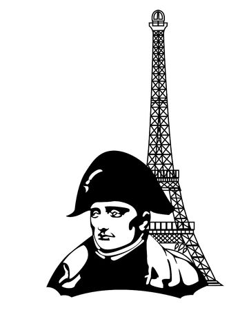 napoleon: the Napoleon Bonaparte head  Illustration