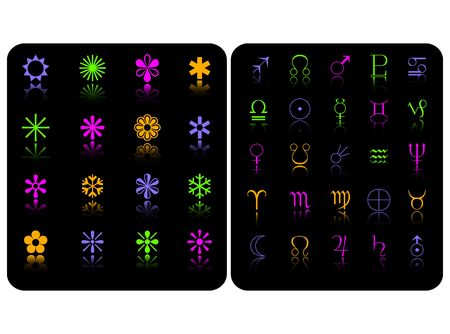 the color  symbol set Stock Vector - 6745507