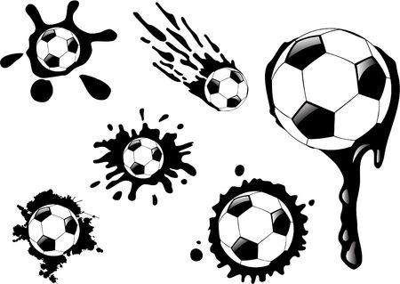 the  soccer ball blot Vector