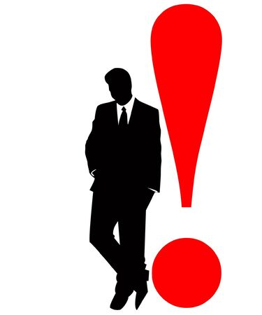 the business silhouette Stock Vector - 6745196