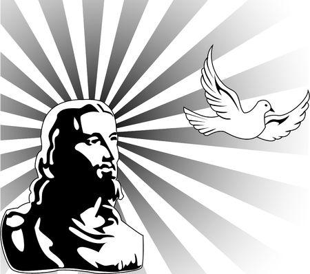 vormsel: de jesus Stock Illustratie