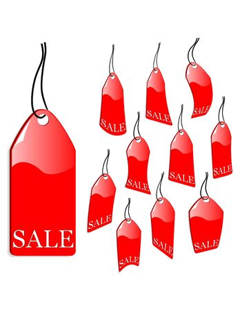 inexpensive: the  red sales label