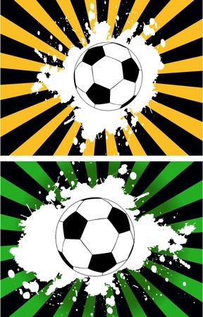 playoff: the grunge background with soccer ball  Illustration