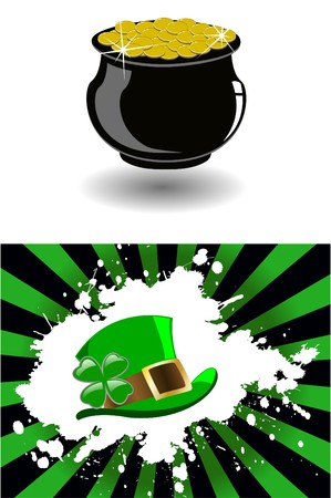 the  patrick`s hat  Vector