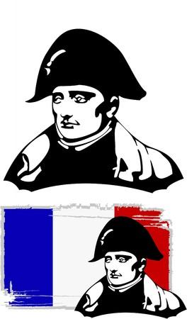 napoleon: het Hoofd van Napoleon Bonaparte  Stock Illustratie