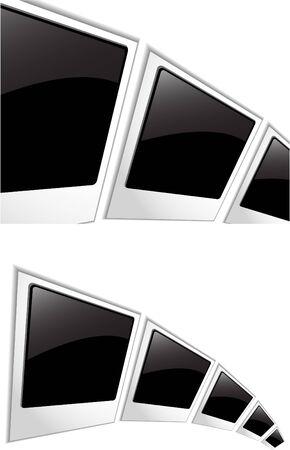 the blank photos Vector