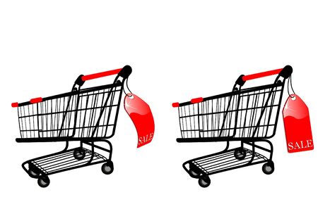 shoppings: the  Shopping cart with Sale label