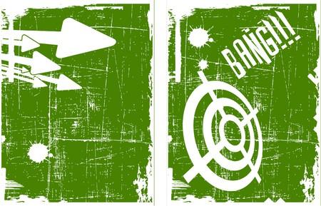 bullethole: the abstract target on grunge background set Illustration
