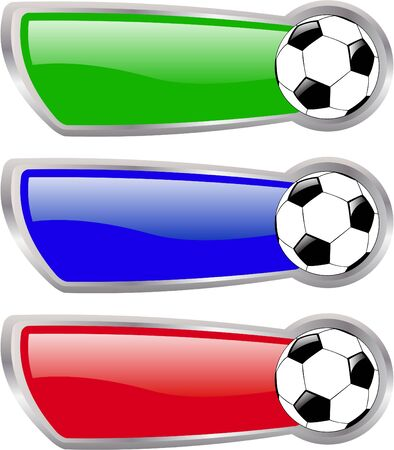 descriptive colour: the  color soccer banner set