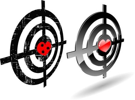 bullethole: the abstract  grunge target set Illustration