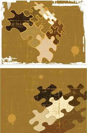 the grunge  retro abstract background set Vector