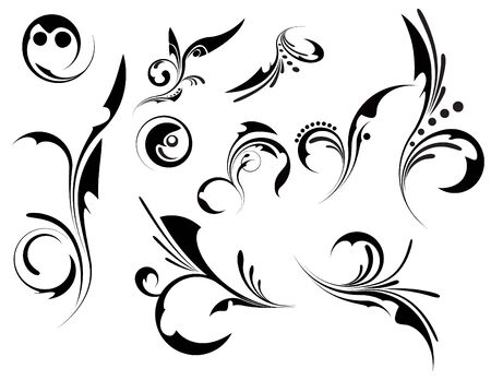 Set of patterns for design Stock Vector - 7001234