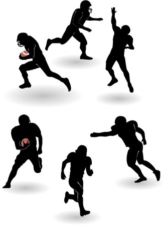 the american football silhouettes set