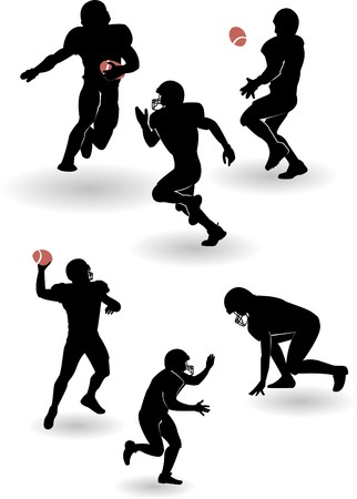 the american football silhouettes set  Vector