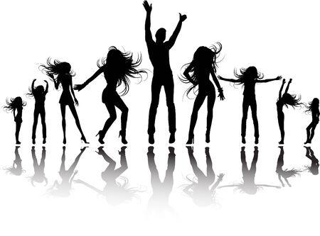 bailarin hombre: la silueta de parte de vector  Vectores