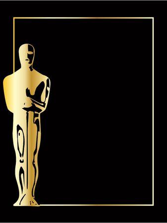 celebrities: de gouden vector beeldje achtergrond