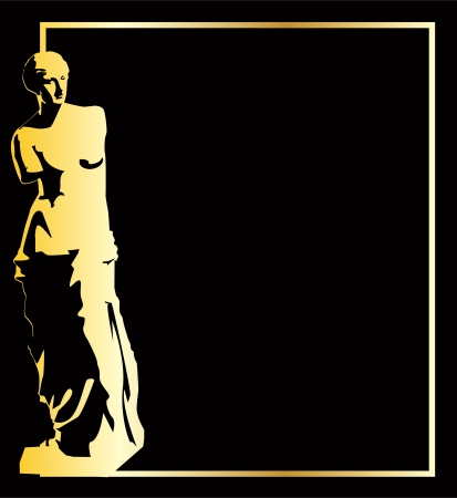 sculpture: the gold vector venus background