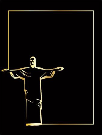 he: he vector iesus christ rio de janeiro statue silhouette