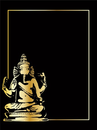 ganesha: the gold vector ganesha statue