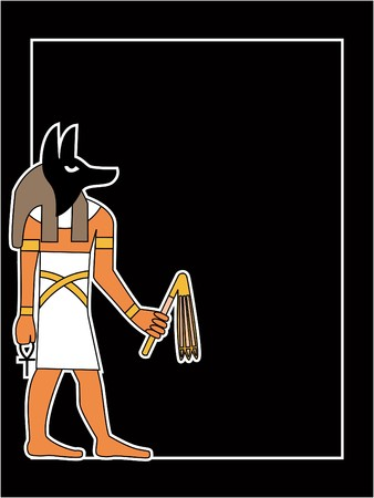 the egyptian god  Vector