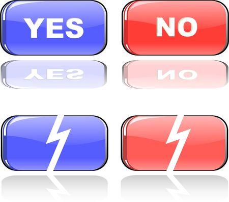 the color button set Vector