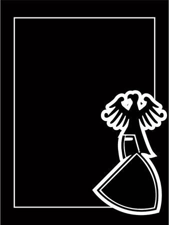 medieval heraldic shield Stock Vector - 7331757