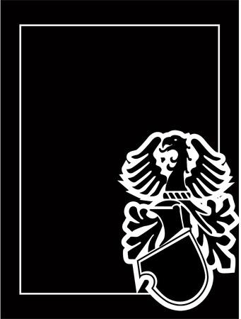 medieval heraldic shield Vector