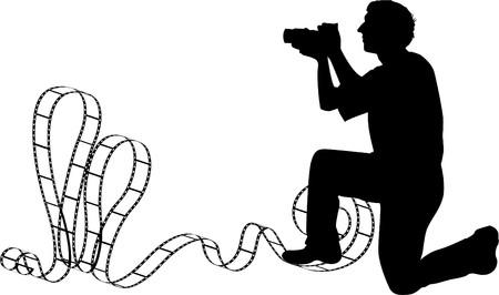 the vector Photographer's silhouette Stock Vector - 7331972