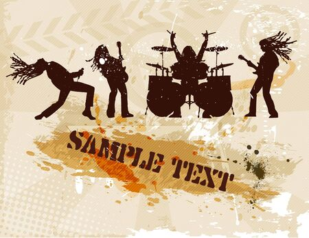 the grunge brown background Stock Vector - 7332112