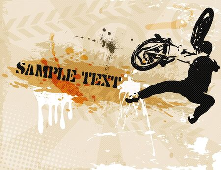 the grunge brown background Vector