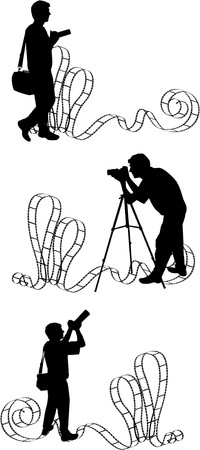 photographs: the vector Photographers silhouette