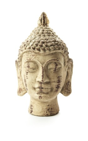buddha head isolated on white background photo