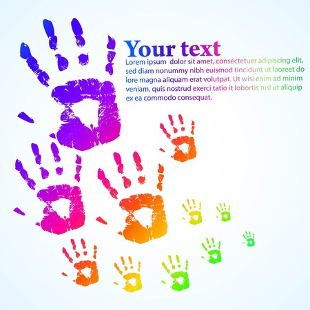 the   hand print abstract color background   Stock Photo - 7782045