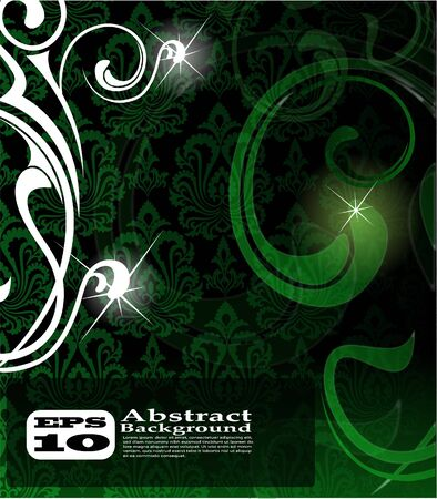 green abstract background Stock Photo - 7852652