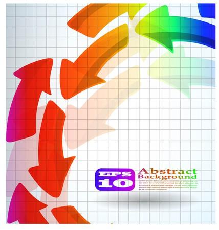 la couleur abstraite flèche arrière-plan eps 10