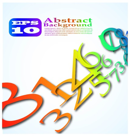 the abstract color number background eps 10 Stock Vector - 8124797