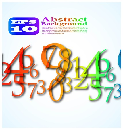 the abstract color number background eps 10 Stock Vector - 8124757