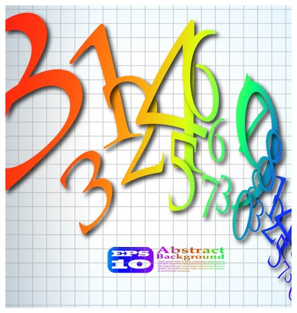 the abstract color number background eps 10 Vector
