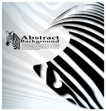 vector zebra abstract background with text Vector