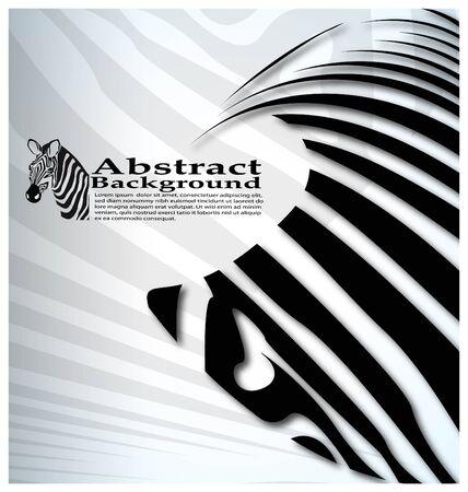 screen print: vettoriali zebre astratto sfondo con il testo