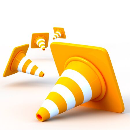 traffic barricade: the 3d traffic cones