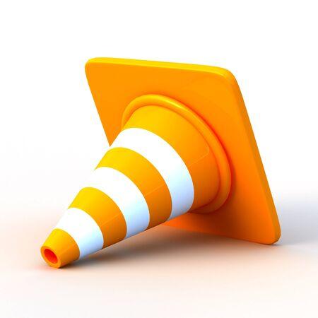 the 3d traffic cones photo
