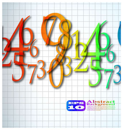the abstract color number background Stock Photo - 8576840