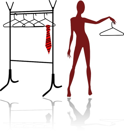 the abstract vector mannequin silhouette photo
